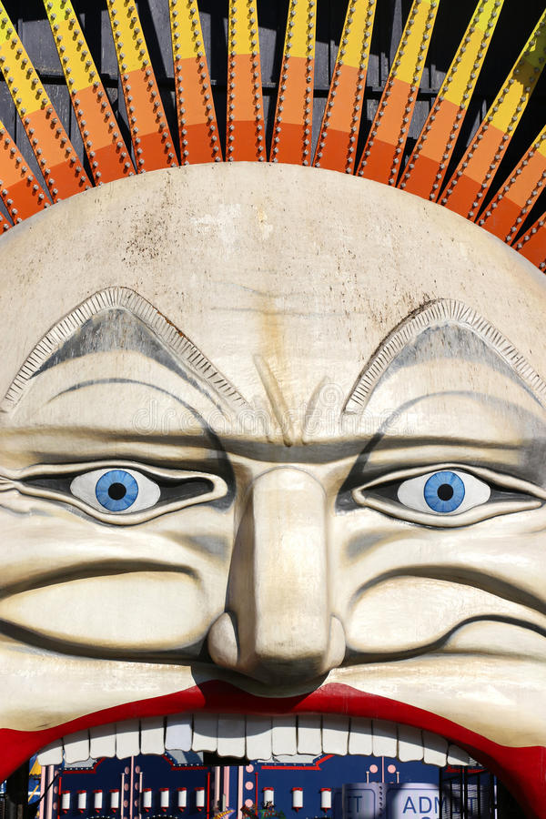 Free The  Mr Moon  Face Of Melbourne S Historic Luna Park Royalty Free Stock Photos - 61060168
