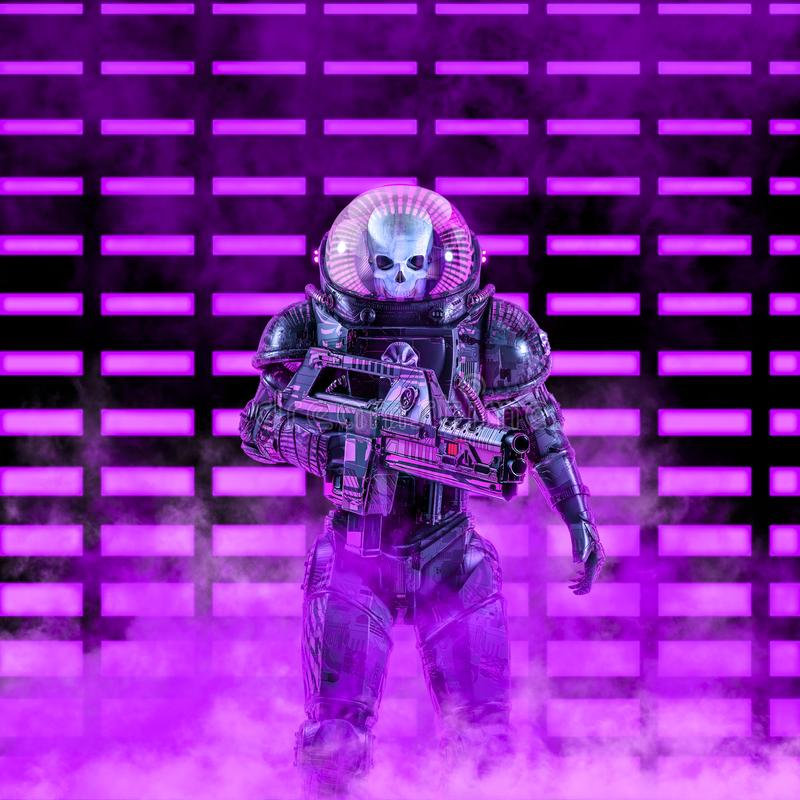 Free The Neon Dark Trooper Royalty Free Stock Photography - 147977667