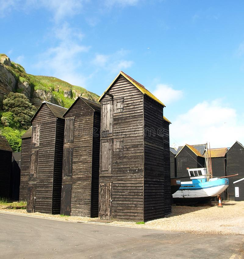 Free The Net Huts At Hastings Seafront, East Sussex, UK  Stock Photo - 101107590