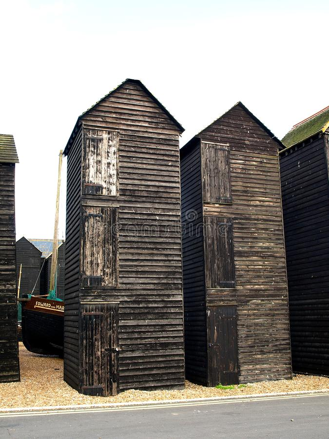 Free The Net Huts, Hastings, East Sussex, England Stock Photography - 101106832