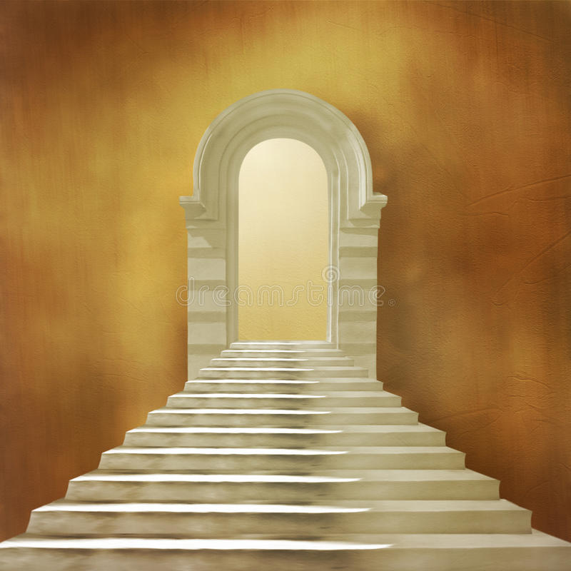 Free The Old Stone Building With Staircase Stock Photography - 13964022