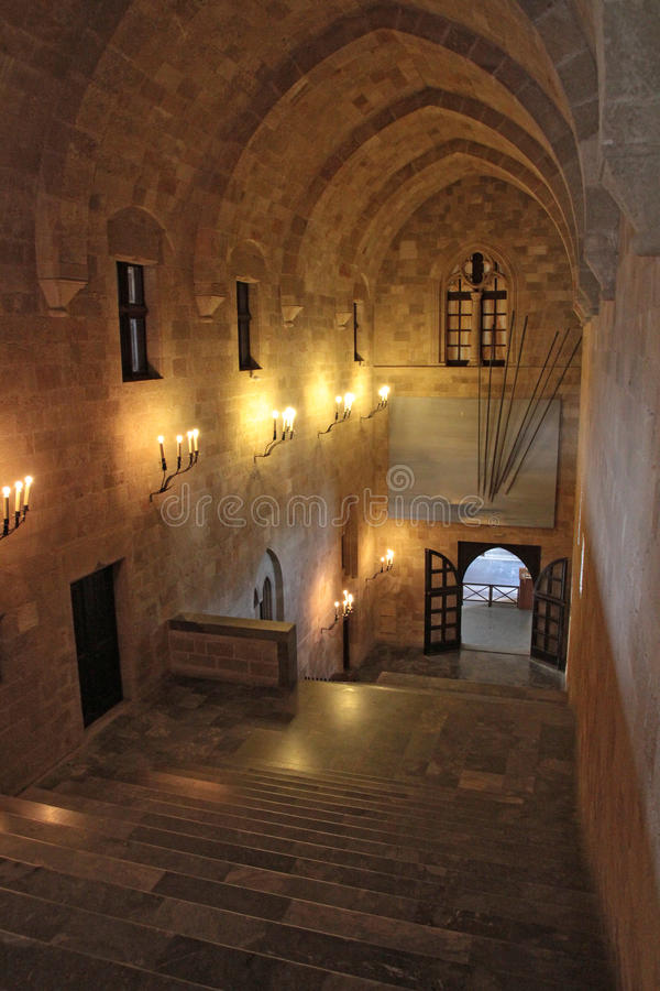 Free The Palace Of Grand Masters, Rhodes, Greece Royalty Free Stock Photography - 33741867