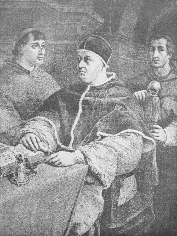 Free The Portrait Of The Pope Leo X By Raphael In The Vintage Book Raphael By S.M. Bryliant, St. Petersburg, 1891 Stock Image - 180168411
