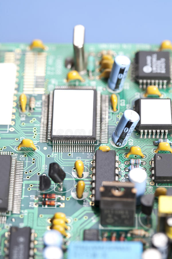 Free The Processor On The Motherboard Royalty Free Stock Photo - 17317925
