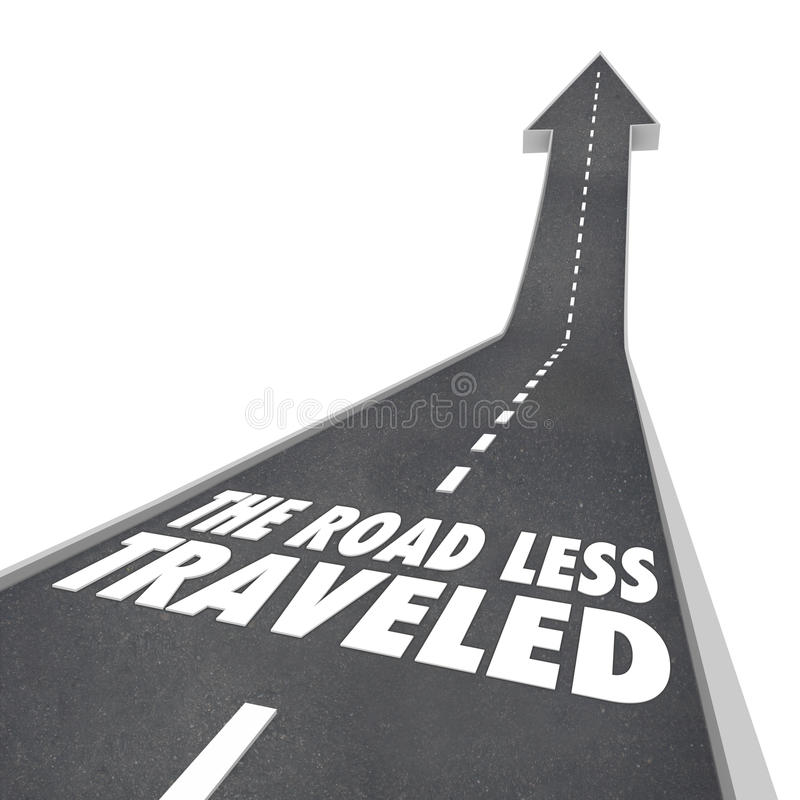 Free The Road Less Traveled Go Your Own Way Royalty Free Stock Photos - 32650888