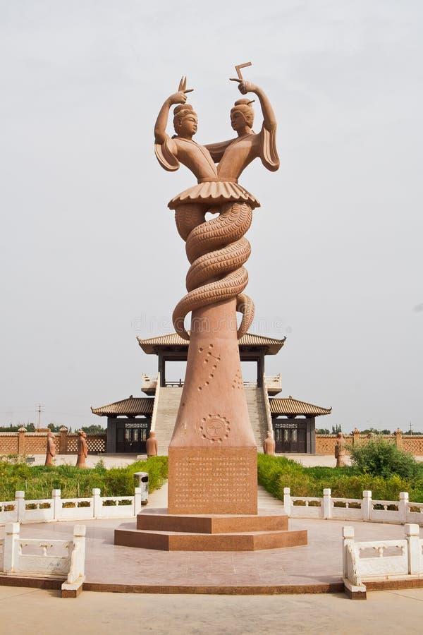 Free The Sculpture Of Fu-his And Nu Wa,Xinjiang,China Royalty Free Stock Photo - 22936605