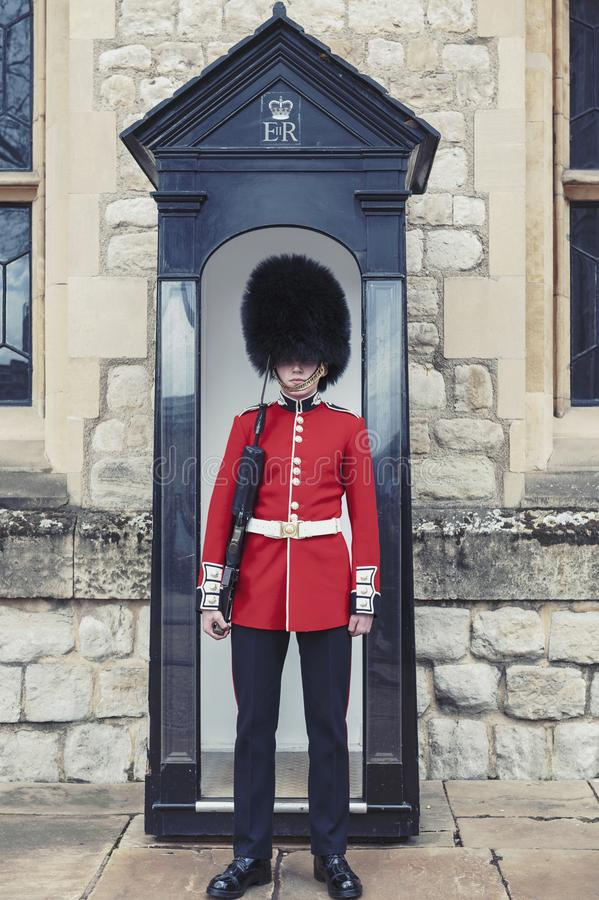 Free The Sentry Of The Jewel House At Waterloo Block Building Inside Tower Of London, England Royalty Free Stock Photography - 118837527