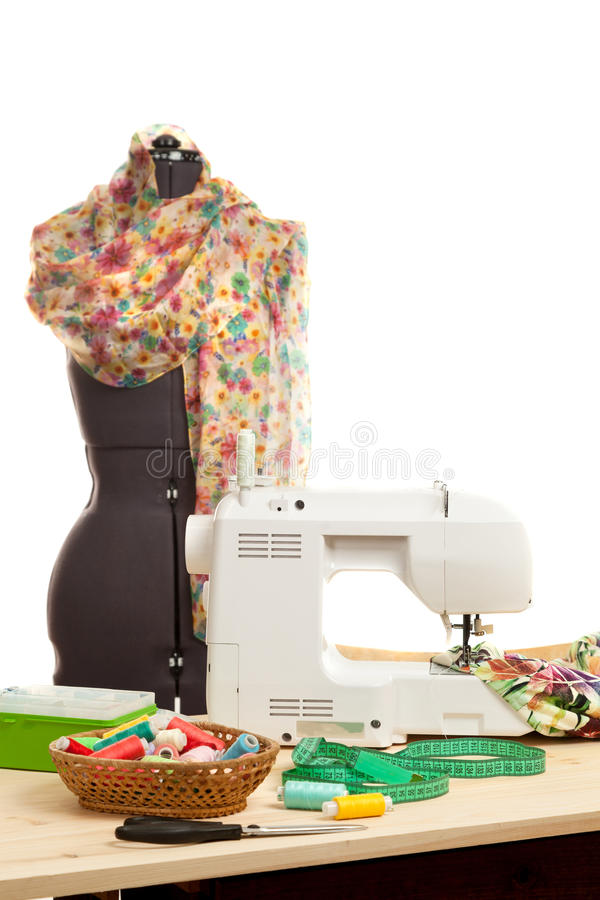 Free The Sewing Machine Costs On A Table Stock Photo - 70358470