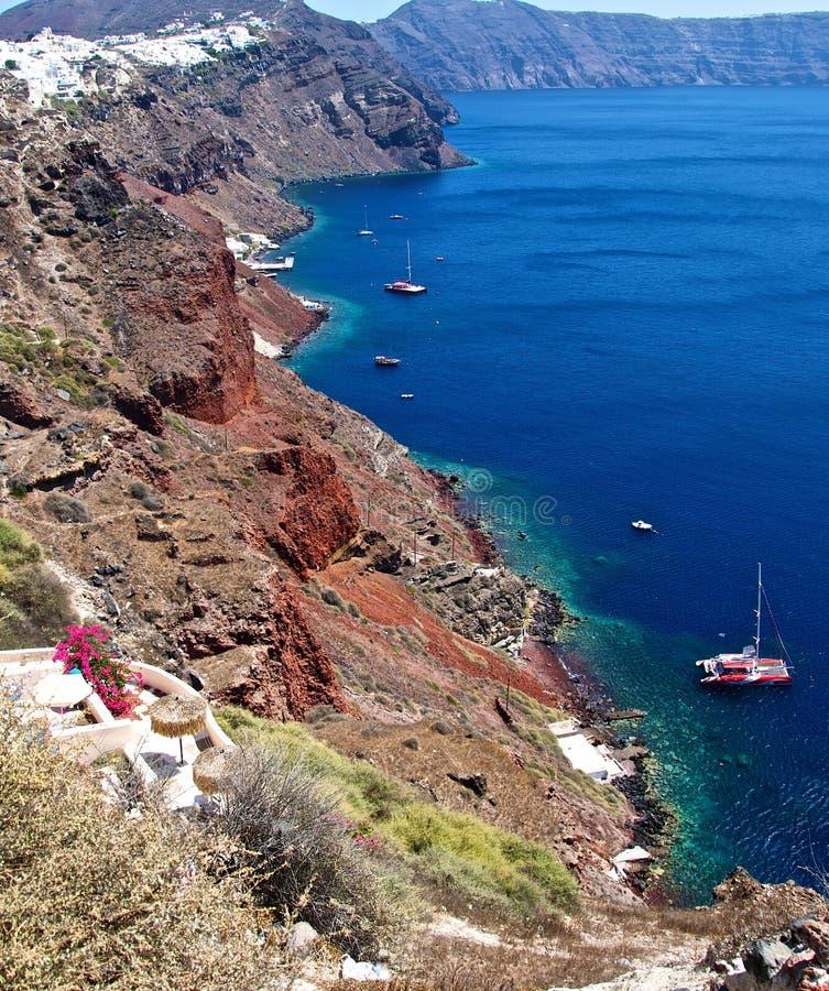 Free The Shores Of The Island Of Santorini. Royalty Free Stock Photos - 23670788