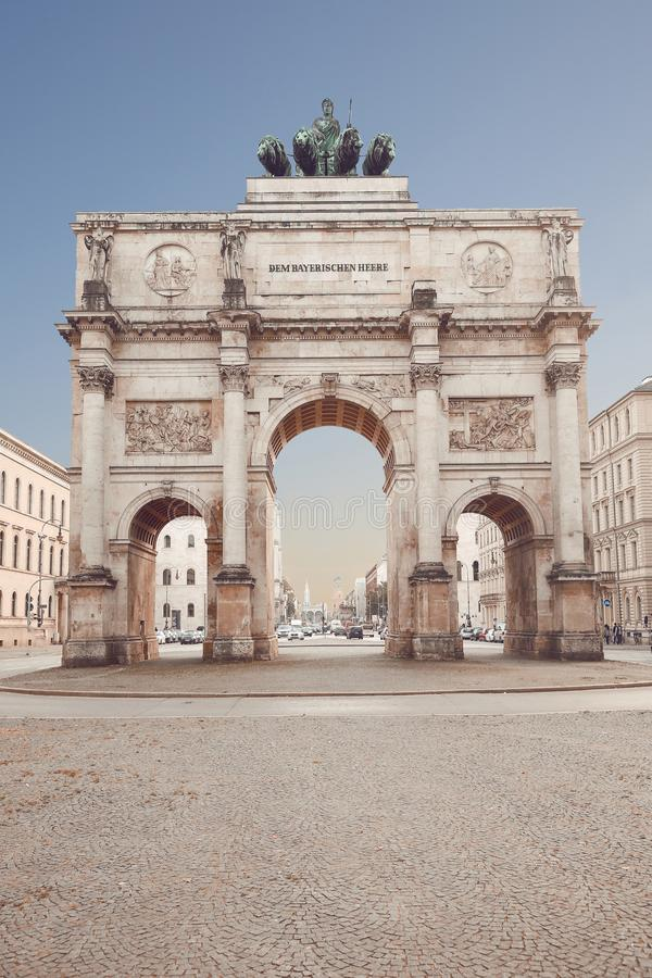 Free The Siegestor In Munich, Germany. Victory Gate, Triumphal Arch C Royalty Free Stock Photography - 113302067