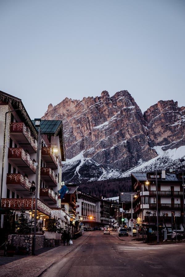 Free The Ski Resort Cortina D`Ampezzo In The Dolomites In Winter Stock Photos - 116801323