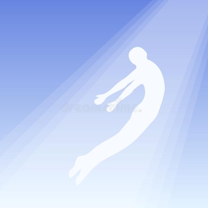 Free The Soul Flies To Heaven, Ghost Of A Man Taken Up Into Heaven. Soul Ascension In Heavenly Light, Consciousness And Body Stock Photos - 177898833