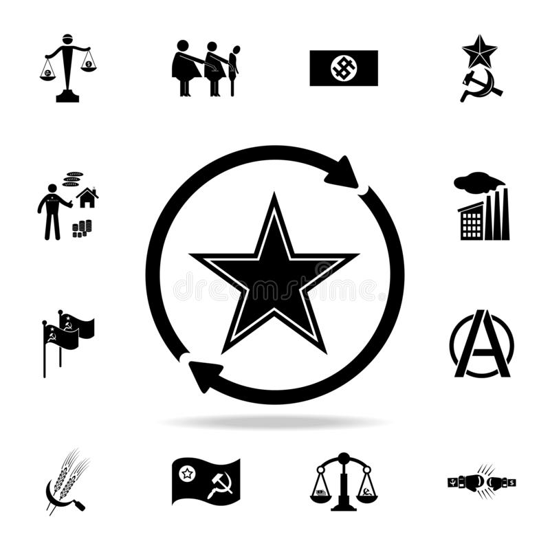 Free The Soviet Star In The Circle With The Arrow Icon. Detailed Set Of Communism And Socialism Icons. Premium Graphic Design. One Of Stock Image - 132034771
