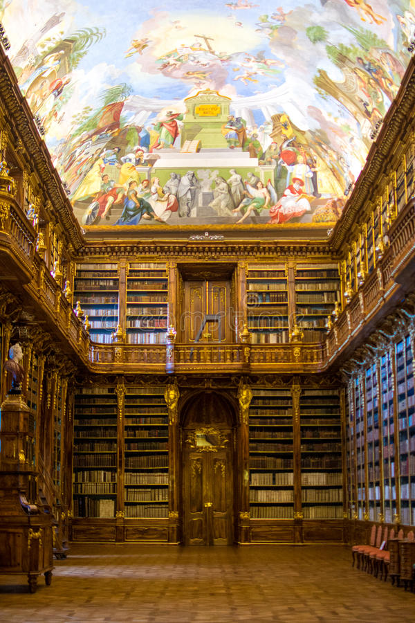 Free The Strahov Library In Prague. Royalty Free Stock Photo - 68583355