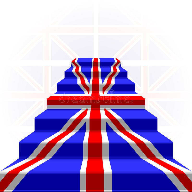 Free The Stylized Ladder. Flag Of Great Britain Stock Images - 33801154