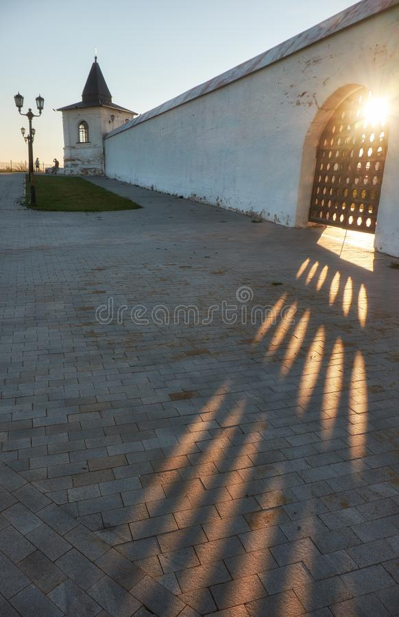 Free The Sun Rays Break Through The Grating Doors Of The Wall Of Tobolsk Kremlin. Tobolsk. Russia Royalty Free Stock Photos - 141629838
