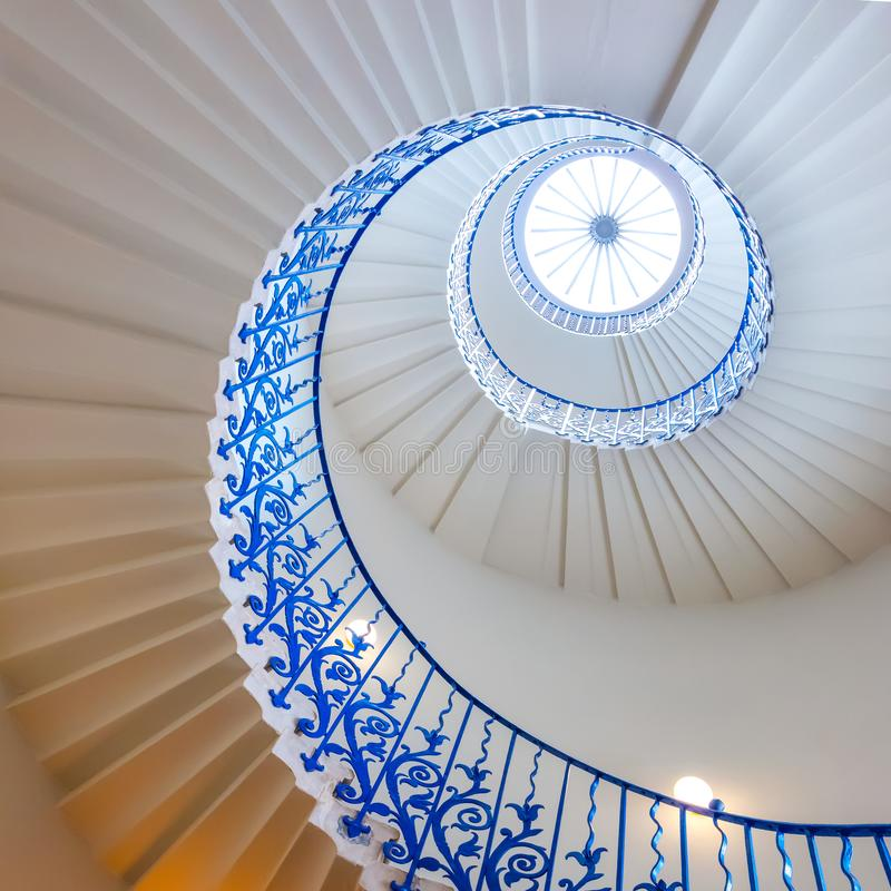 Free The Sweeping Tulip Stairs At The Queen`s House Museum In London, UK Royalty Free Stock Image - 145857956