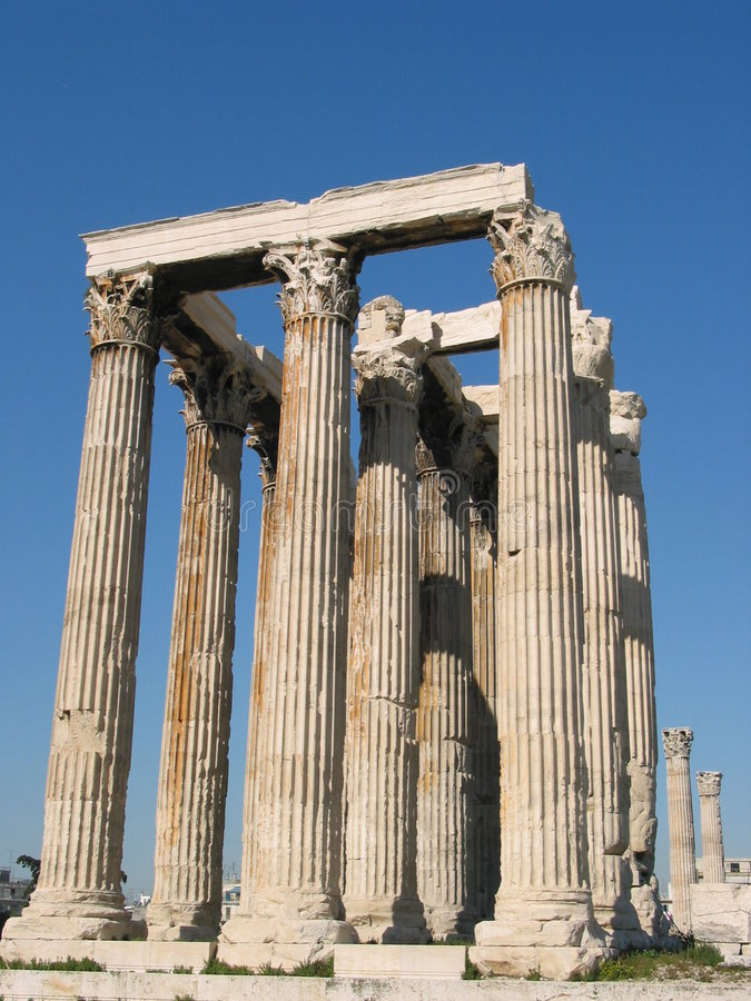 Free The Temple Of Olympian Zeus Royalty Free Stock Photo - 150305