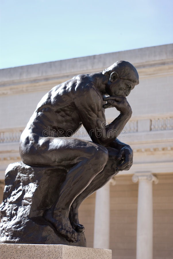 Free The Thinker By Rodin Royalty Free Stock Photography - 3301917