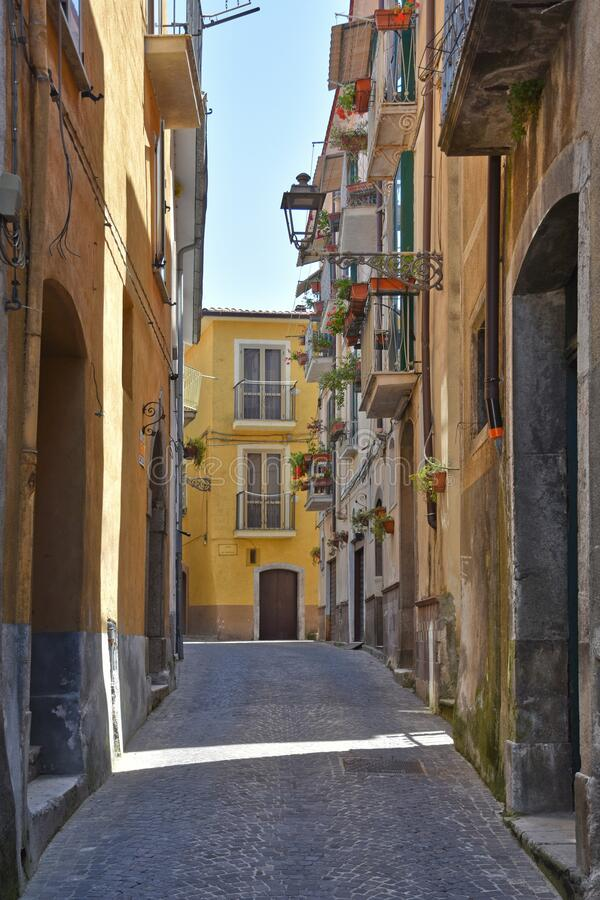 Free The Town Of Polla In The Province Of Salerno, Italy Stock Photos - 182110733