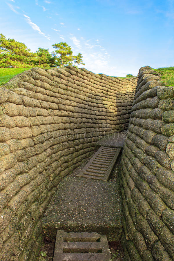 Free The Trenches On Battlefield Of Vimy Ridge France. Royalty Free Stock Photos - 48545748