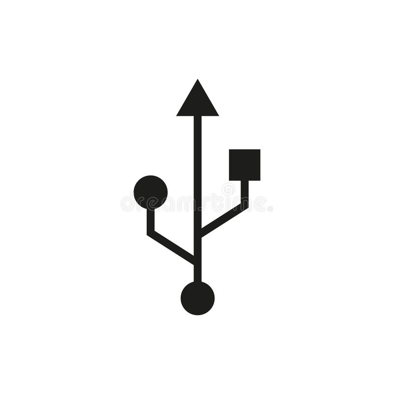 Free The Usb Icon. Transfer And Connection, Data Symbol. UI. Web. Logo. Sign. Flat Design. App. Stock Royalty Free Stock Photos - 79809298
