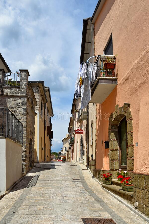 Free The Village Of Ruviano On The Hills Of The Province Of Caserta, Italy Stock Image - 182019501