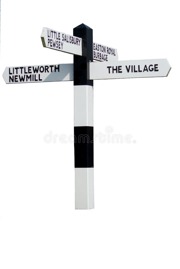 Free The Village Sign Stock Image - 8733441