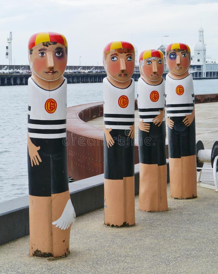 Free The Water Polo Team On A Bollard Stock Photography - 37702902