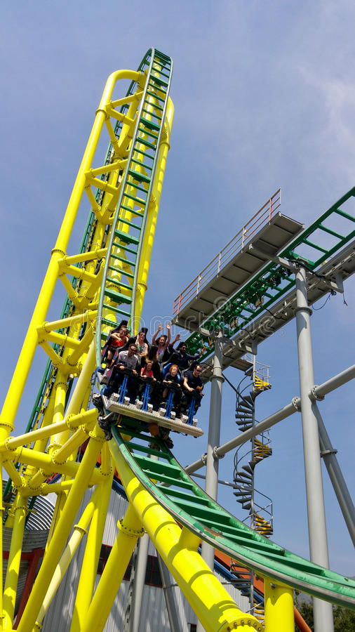 Free The Wicked Roller Coaster At Lagoon Royalty Free Stock Photos - 58758998