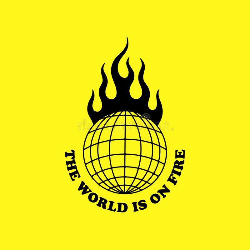 Free THE WORLD IS ON FIRE Royalty Free Stock Photo - 143171775