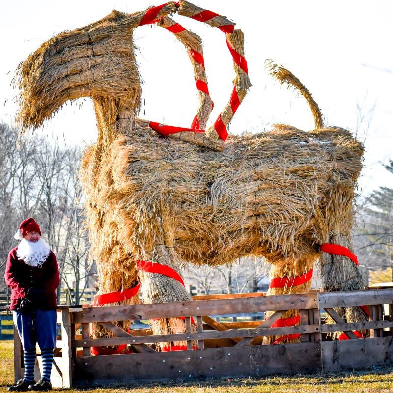 Free The Yule Goat - Scandinavian Christmas Symbol Stock Photos - 134610453