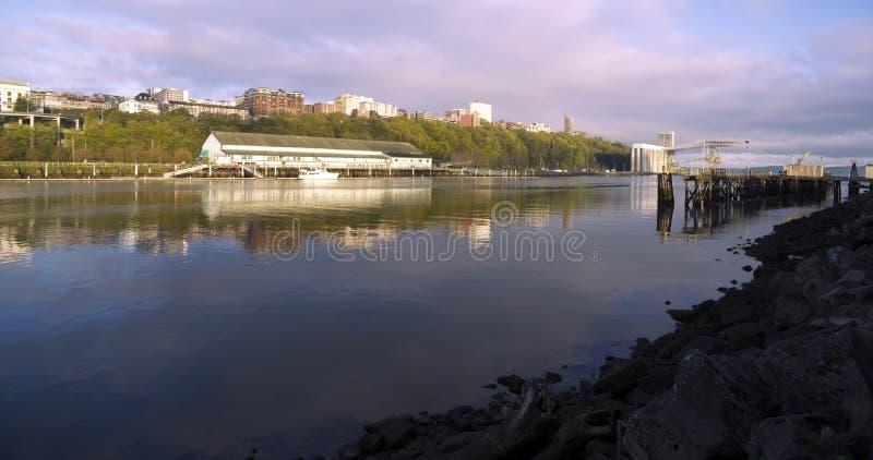 Thea Foss Waterway Waterfront Ridge des bâtiments Tacoma du nord Wa photographie stock libre de droits