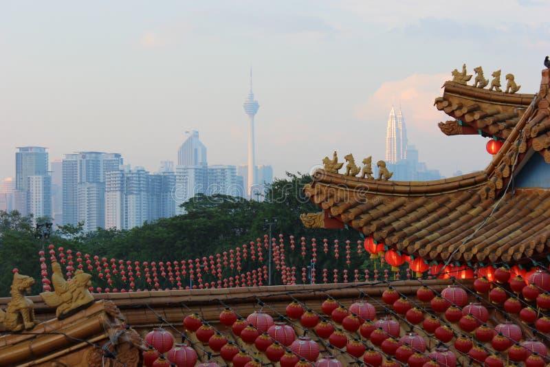 Thean Hou świątynia w Kuala Lumpur zdjęcia royalty free
