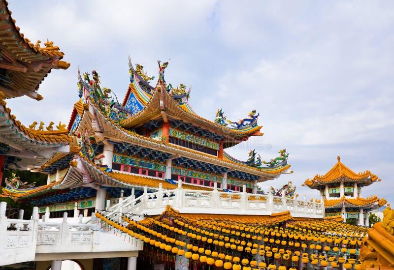 Thean Hou Tempel in Kuala Lumpur Malaysia lizenzfreie stockfotos
