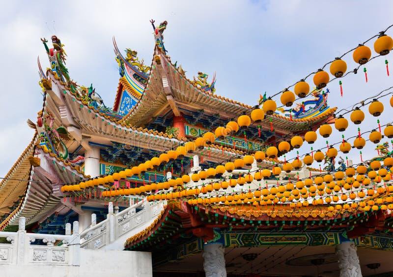 Thean Hou Tempel in Kuala Lumpur Malaysia lizenzfreies stockbild