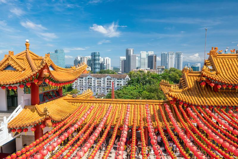 Thean Hou Temple in Kuala Lumpur. On Chinese New Year 2017 stock photography