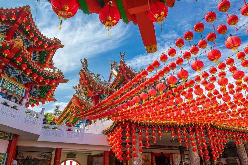 Thean Hou Temple in Kuala Lumpur. On Chinese New Year 2017 royalty free stock images