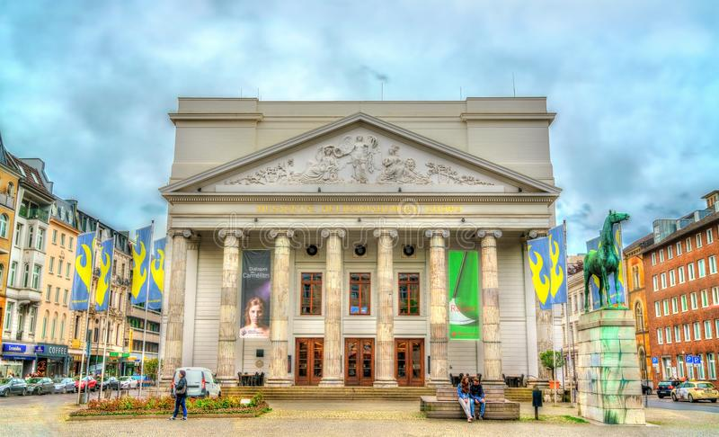 Theater Aken, het huis van het de Symfonieorkest van Aken Duitsland, Noordrijn-Westfalen stock afbeeldingen