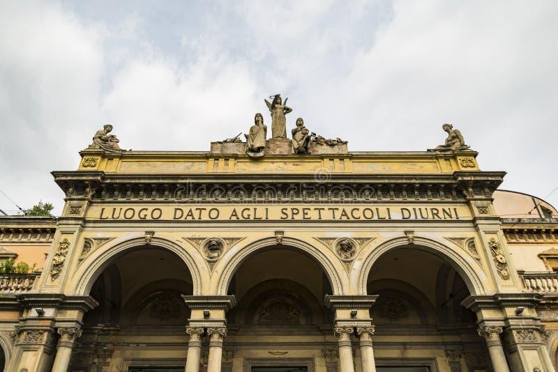 Theater Arena del Sole a Bologna in Italia fotografia stock