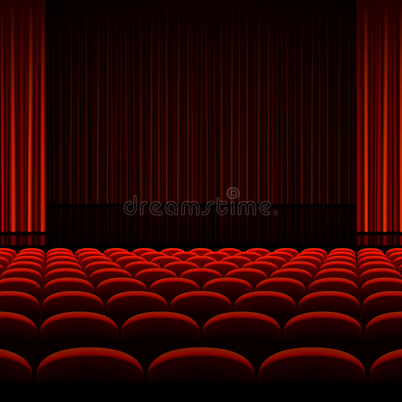 Free Theater Auditorium With Stage Royalty Free Stock Image - 31421586