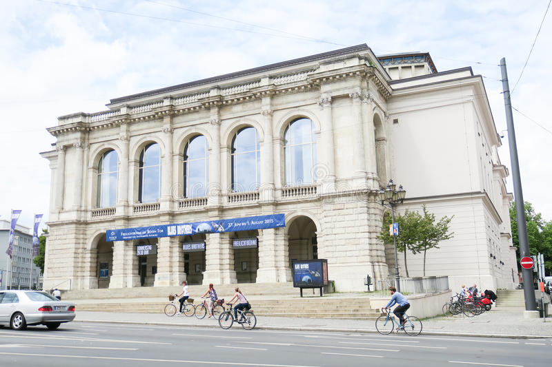 Theater Augsburg. Theater building in Augsburg with copy space royalty free stock photo