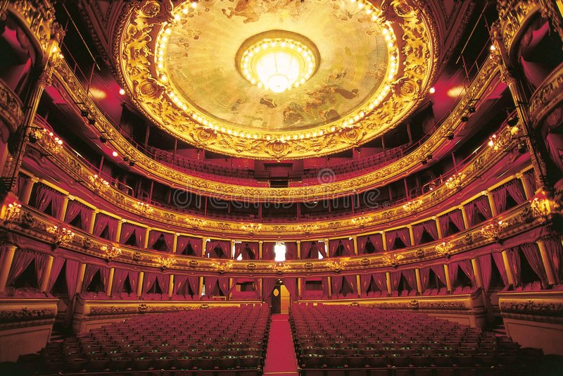 Theater boxies en boxen royalty-vrije stock fotografie