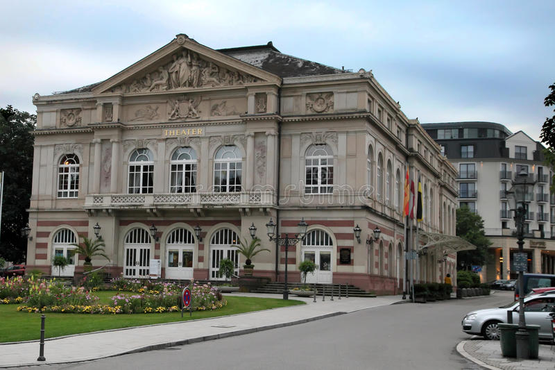 The theater building. Baden-Baden. Germany. Built in 1860-1862 stock photo