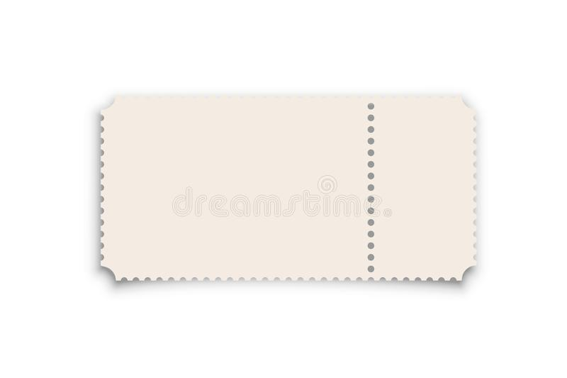 Theater, cinema ticket realistic vector template royalty free illustration