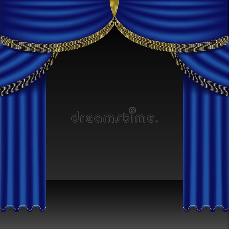 Theater Courtains 03 lizenzfreie abbildung
