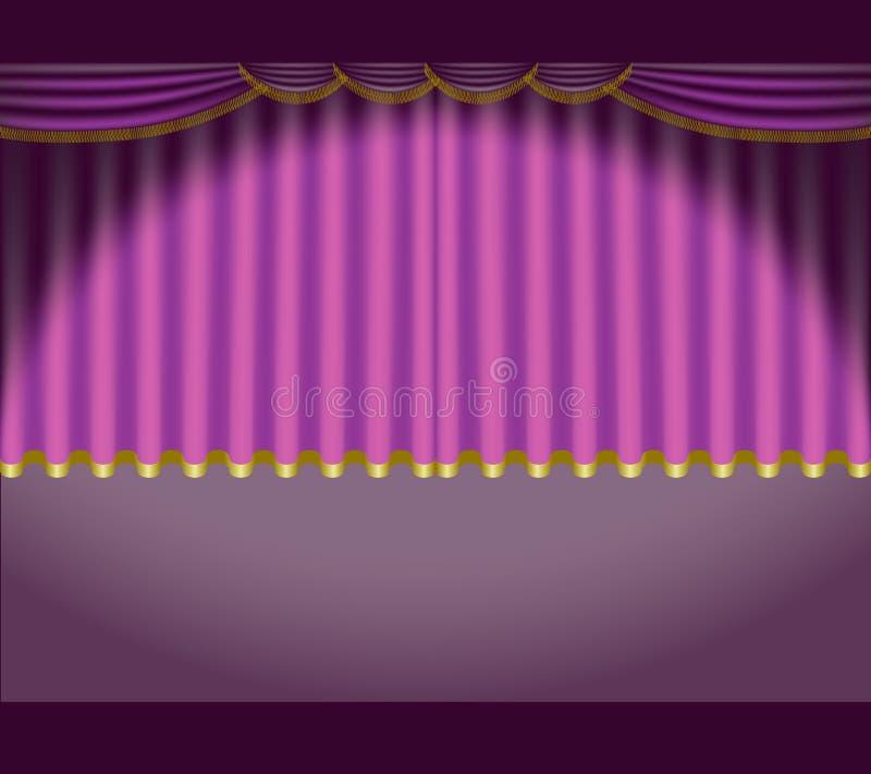 Theater Courtains 05 stock abbildung