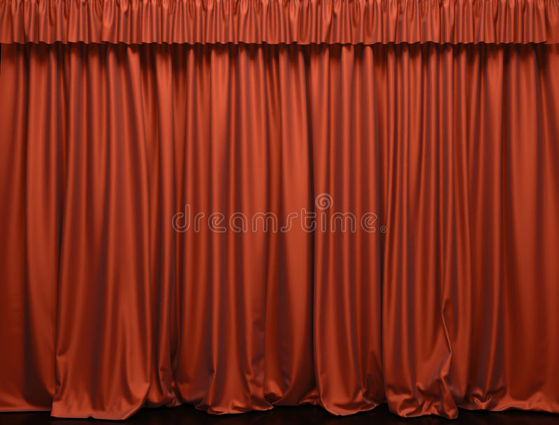 Theater curtain. A Presentation. Movies royalty free stock photos