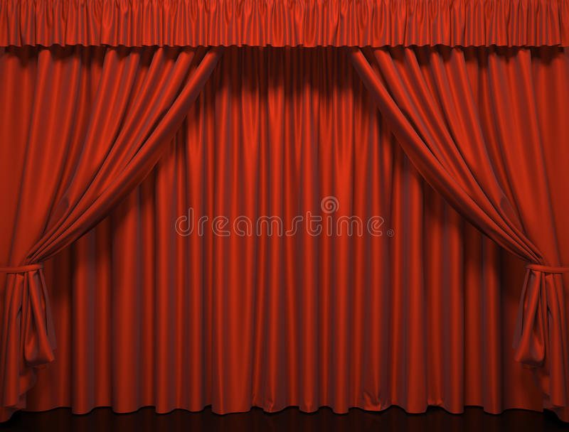 Theater curtain. Presentation. A Movies stock illustration