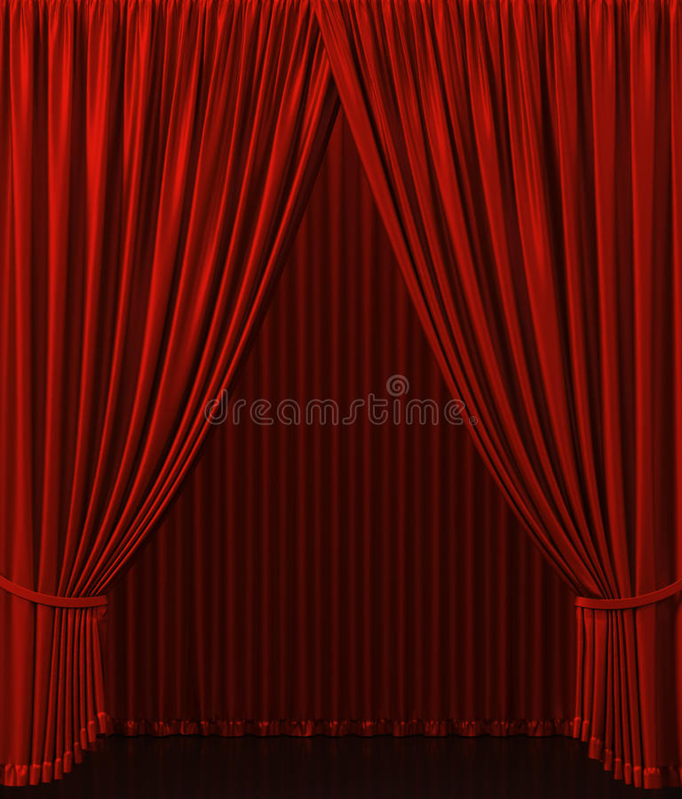 Theater curtain. Presentation. A Cinema royalty free illustration